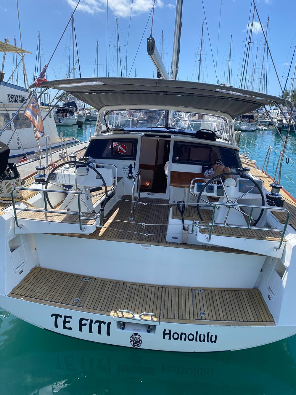 Sailing boat - offshore fishing hawaii
