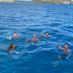 swimming from a sailing boat trip in Honolulu