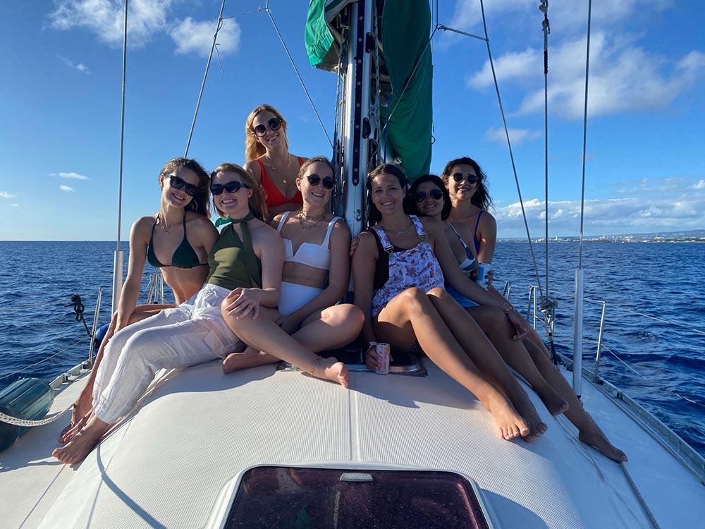 Girls on a Yacht charter in Honolulu