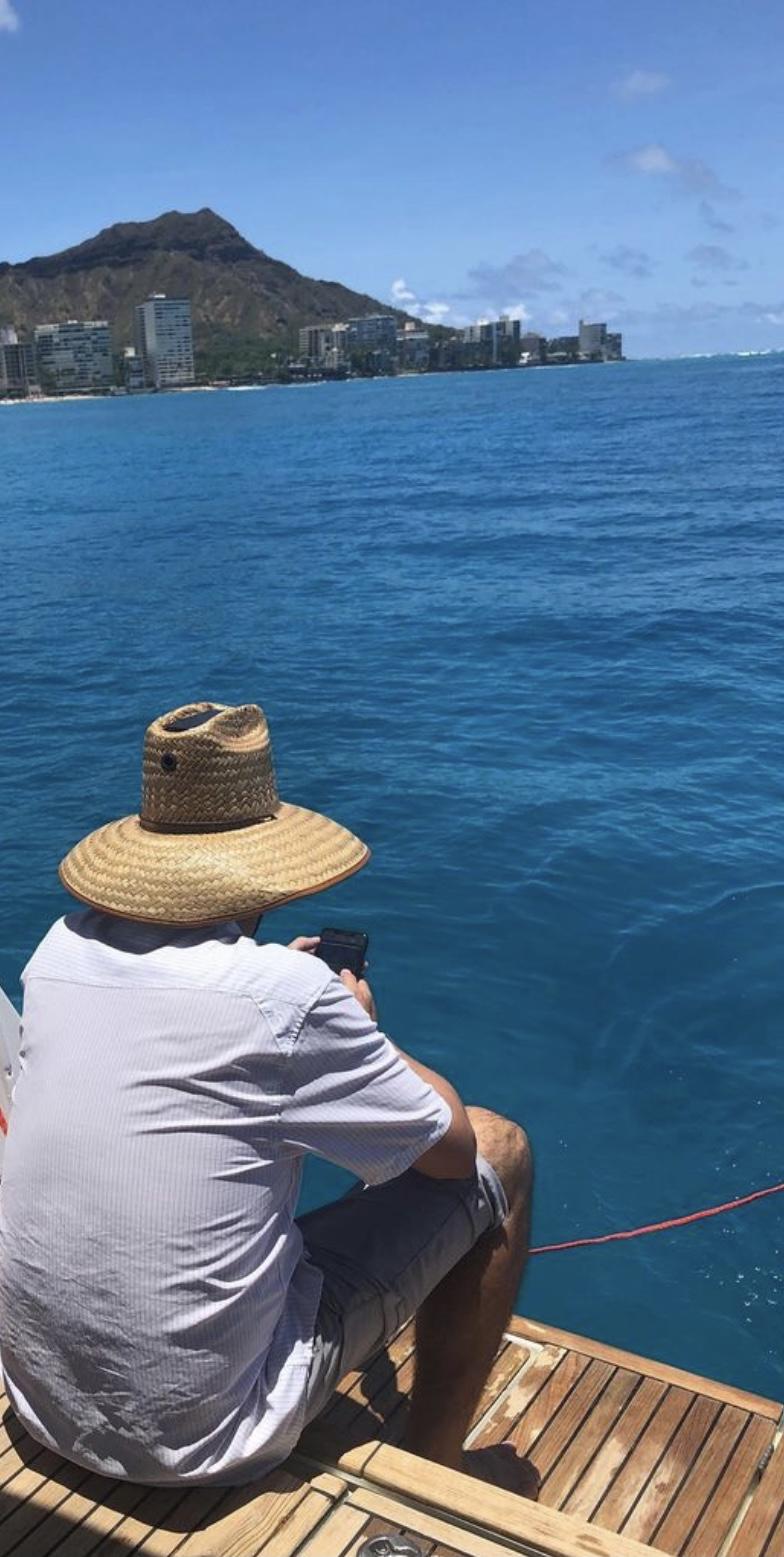 Man at Honolulu harbor