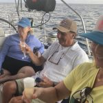 birthday charter boat with people